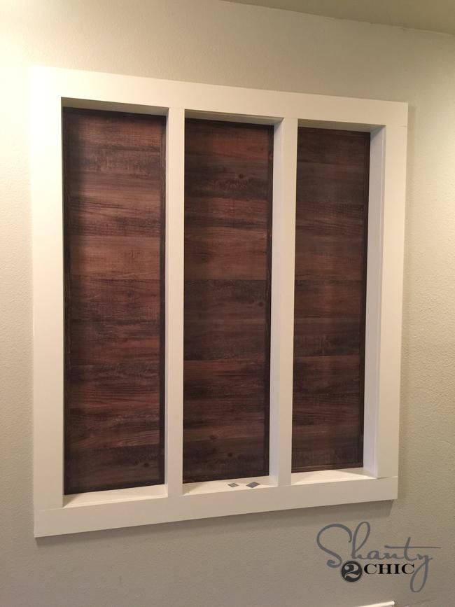 vinyl wood planks on wall