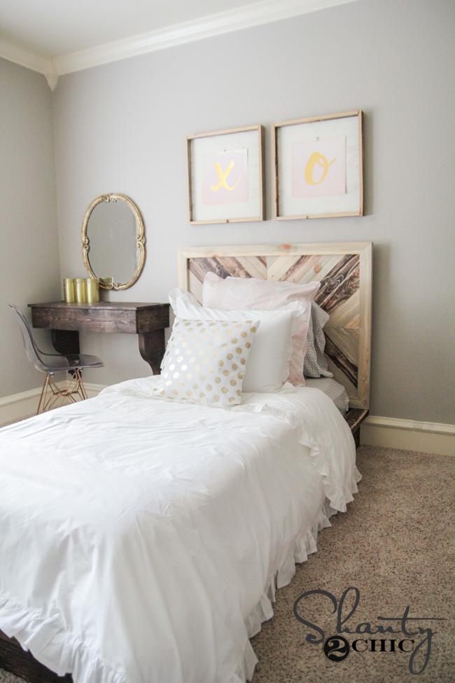 DIY Chevron Bed by Shanty2Chic