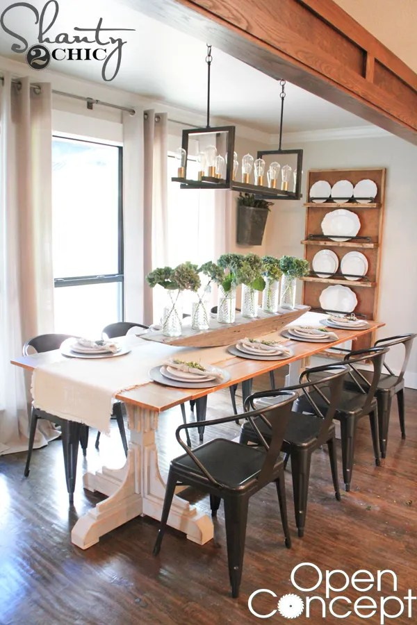 HGTV Open Concept Dining Table Free Plans - Shanty 2 Chic