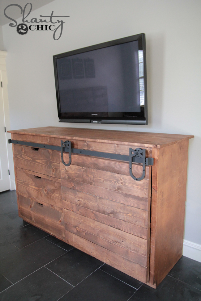 Sliding Barn Door Console by Shanty2Chic