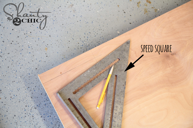 draw line for notches on headboard