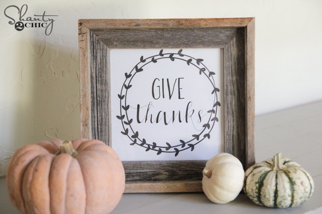 Shanty2Chic Free Printable Give Thanks