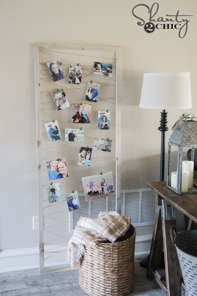DIY Photo Display Frame Tutorial by Shanty2Chic