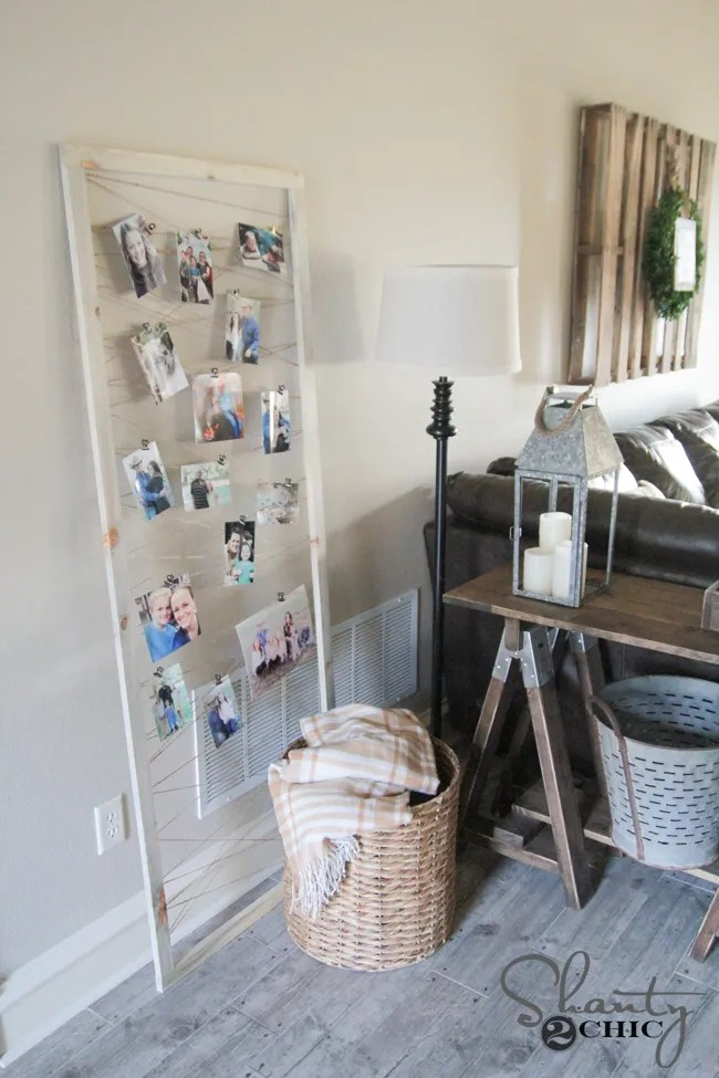 DIY Photo Frame Display by Shanty2Chic