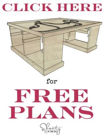 Free DIY Train Table Plans