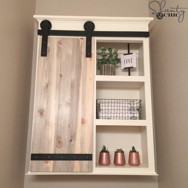 Diy Sliding Barn Door Bathroom Cabinet Shanty 2 Chic