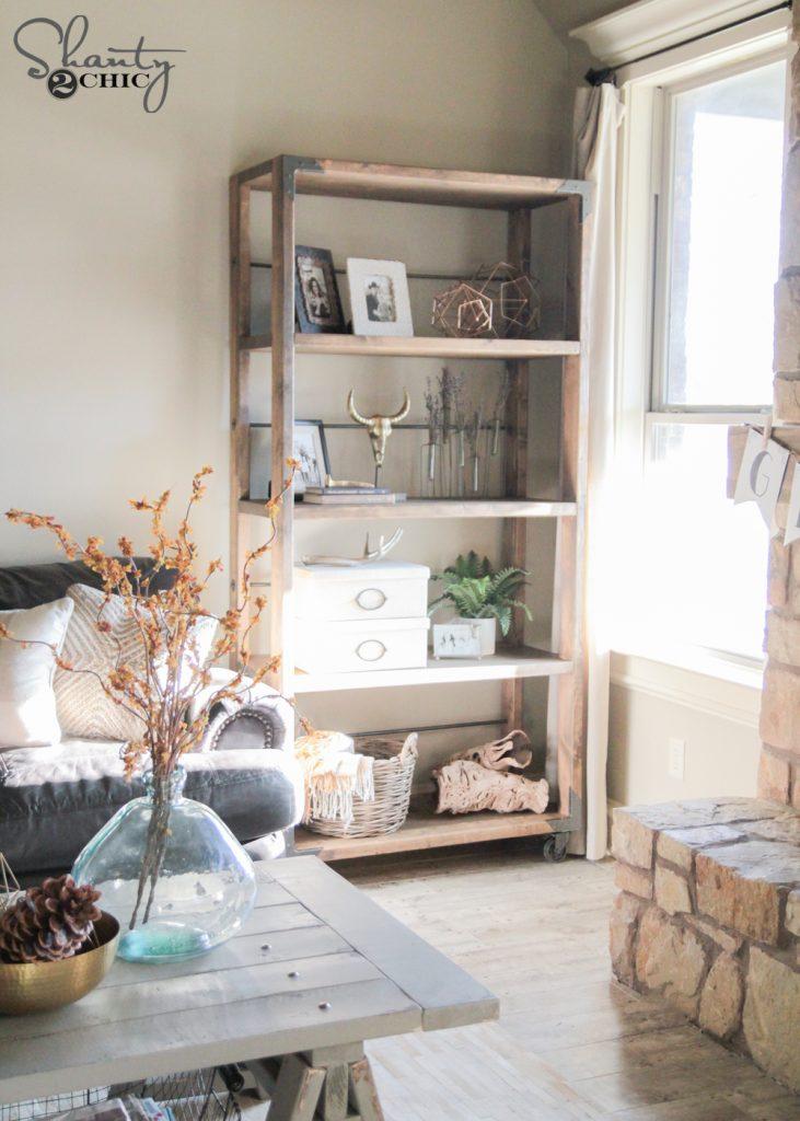 Shanty 2 Chic: DIY Industrial Cart Bookcase