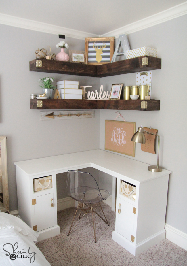 Excellent Diy Corner Desk Shanty 2 Chic Download Free Architecture Designs Rallybritishbridgeorg