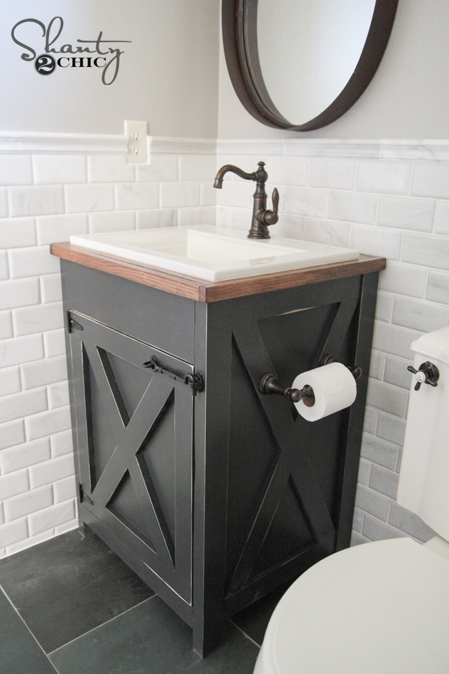 Free Bathroom Vanity Plans DIY