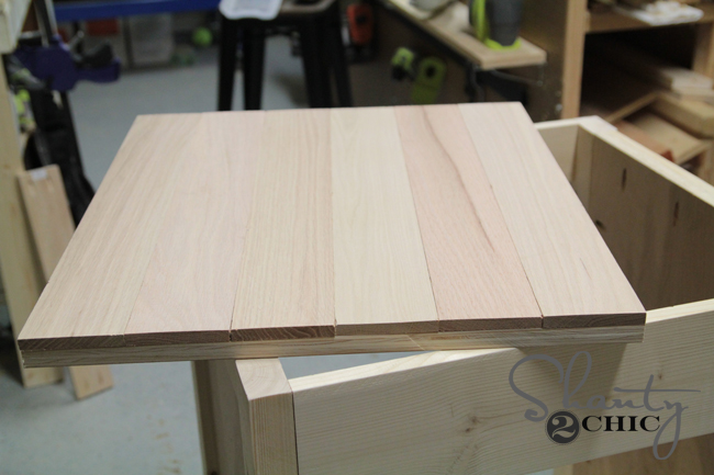 oak boards for vanity top