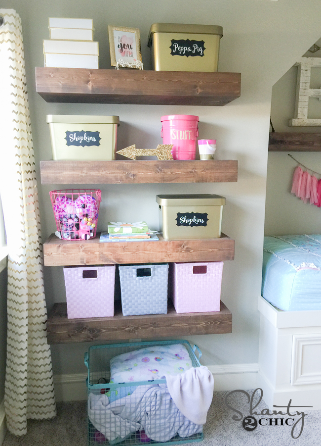 DIY Floating Shelves for Toy Storage