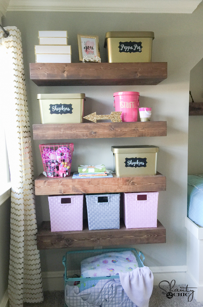 Free Plans for DIY Floating Shelves