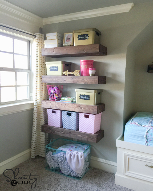 foto de DIY Floating Shelves Plans and Tutorial - Shanty 2 Chic