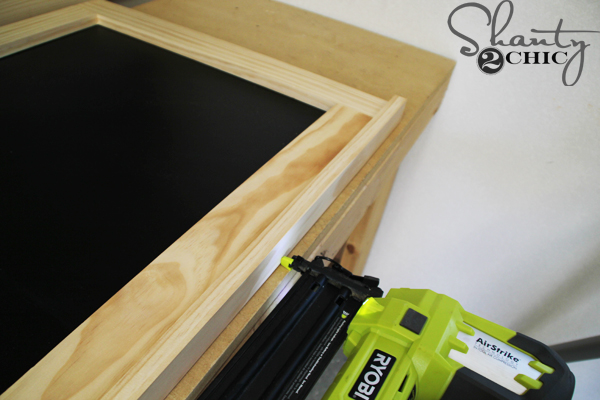 attach-trim-to-chalkboard-frame