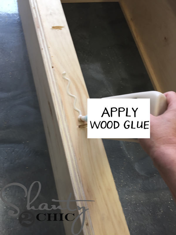 apply-wood-glue-to-back-of-locker