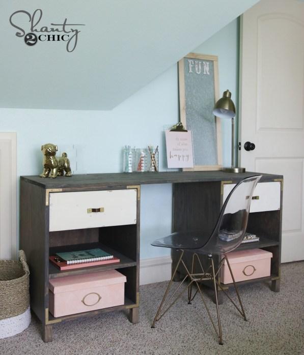 Free Plans DIY Cubby Storage Desk
