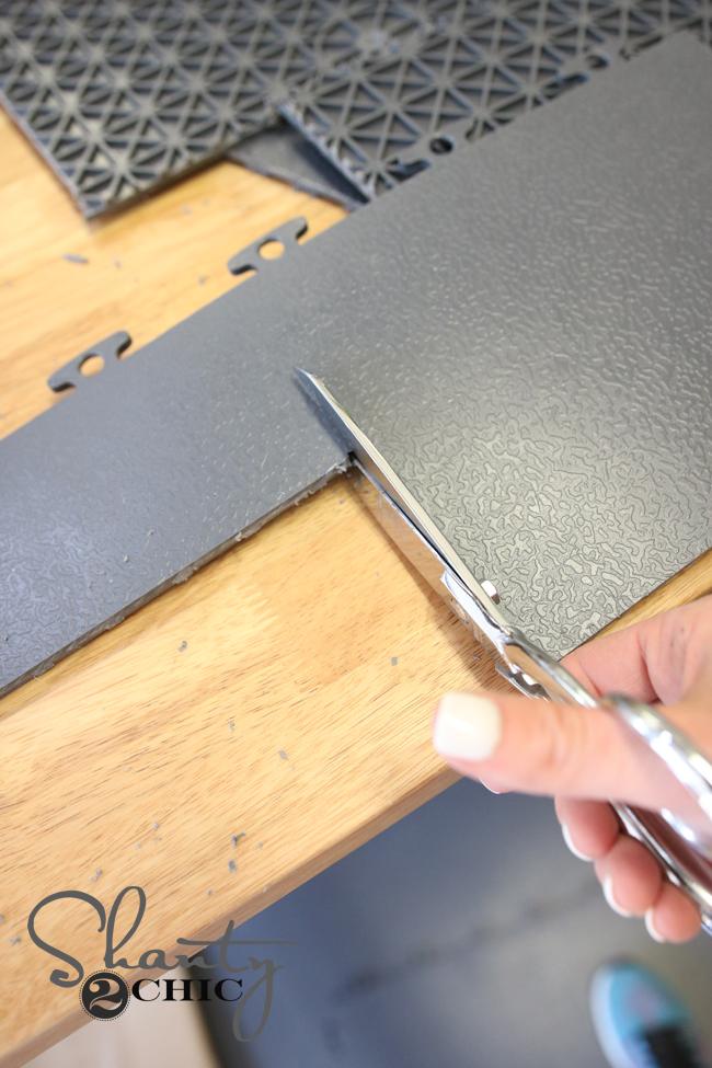 Cut Garage Floor Tiles