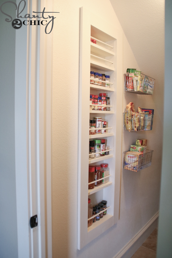 Diy Built In Spice Rack Free Plans And Tutorial Shanty 2 Chic