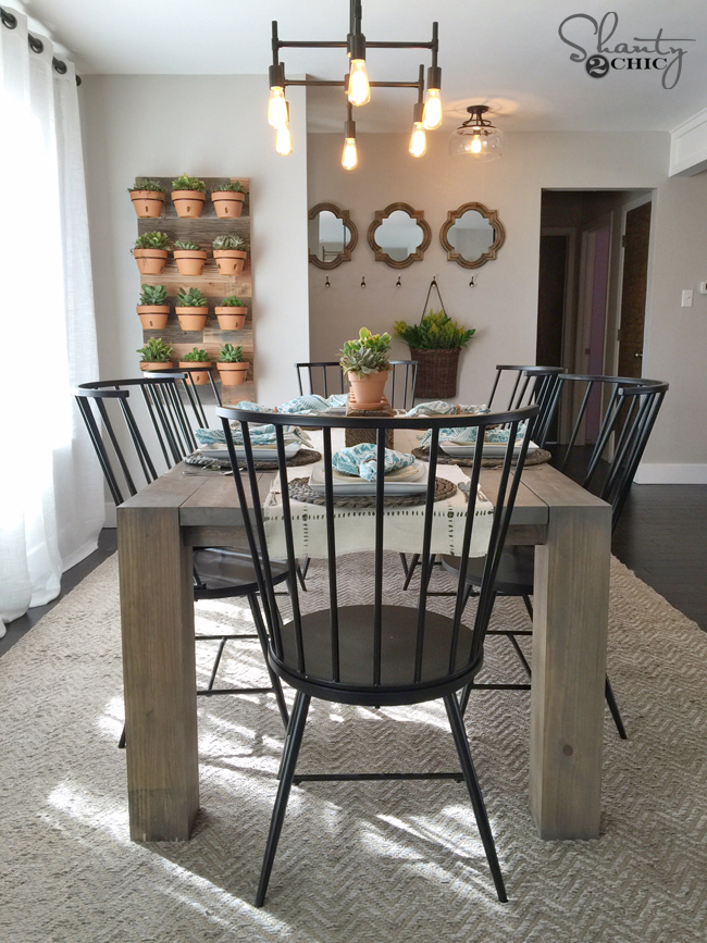 DIY Modern Farmhouse Dining Table