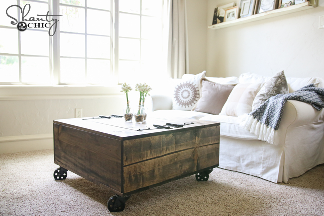 DIY Storage Coffee Table YouTube Video