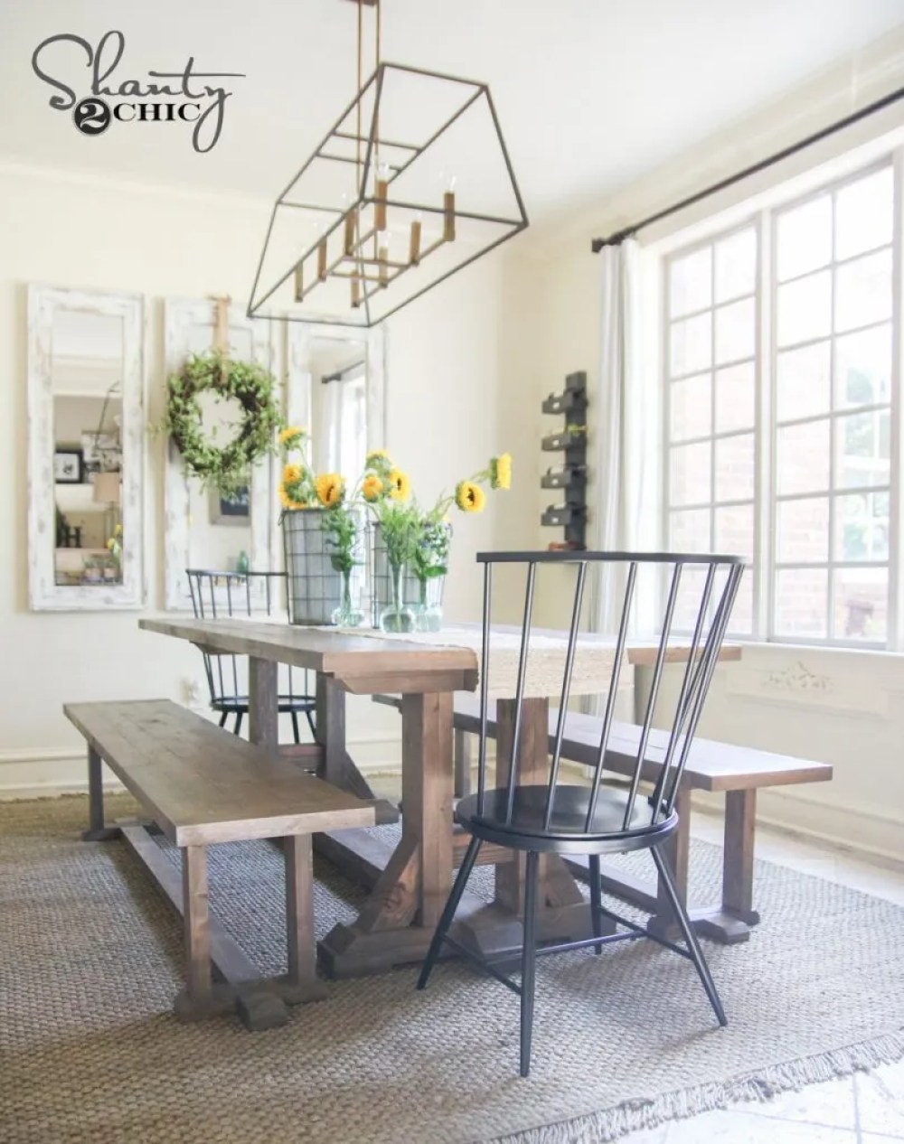 DIY Farmhouse Dining Table Free Furniture Plans