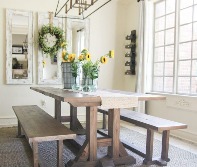 Free Furniture Plans Diy Dining Table Farmhouse Style By Shantychic