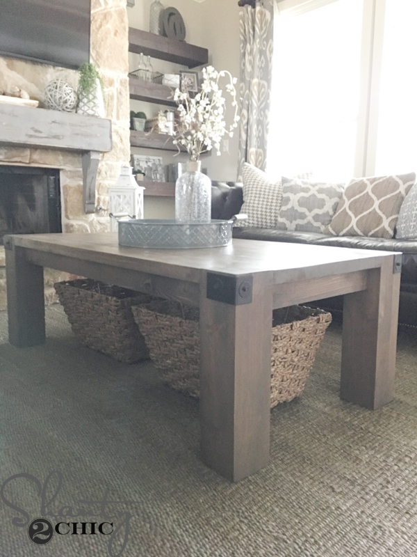 Modern Farmhouse Coffee Table And How To Video Shanty 2 Chic