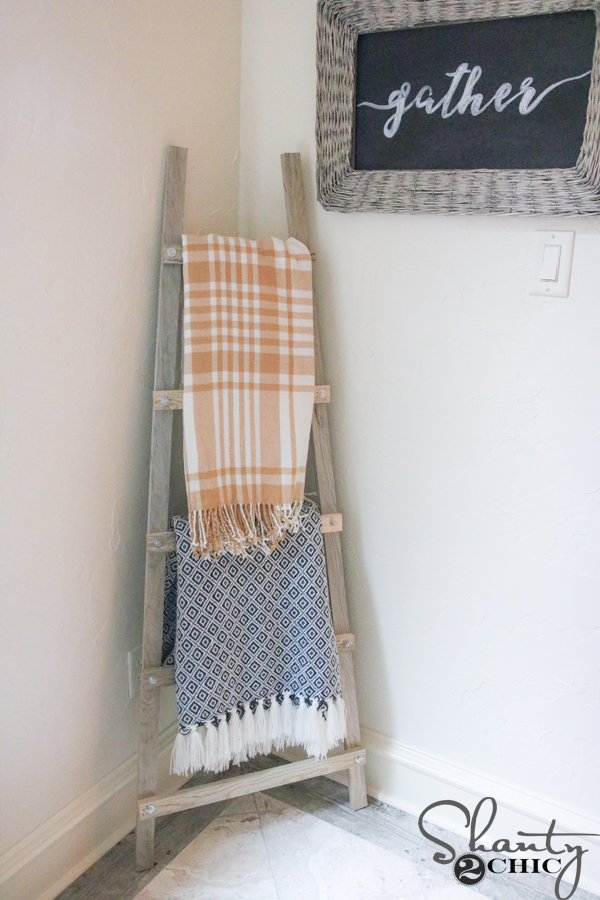 DIY Blanket Ladder and How to Video and Tool Giveaway   Shanty 2 Chic