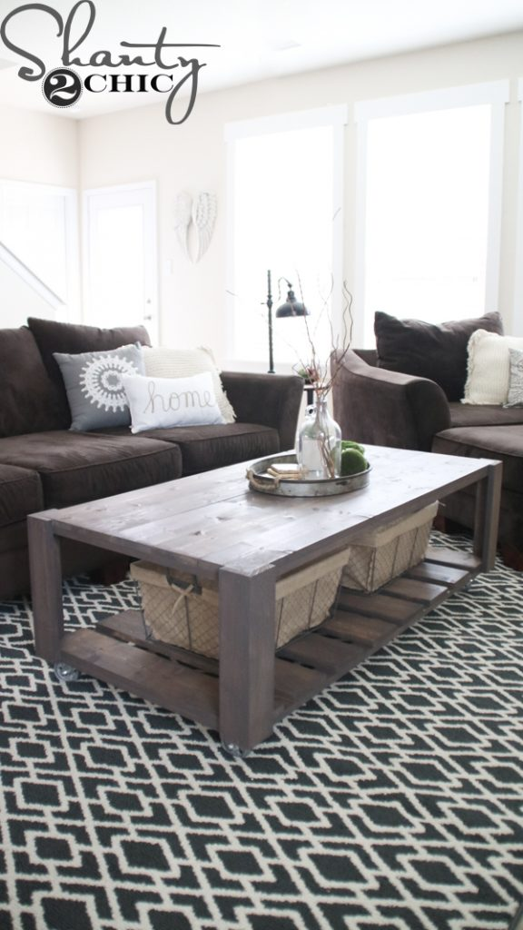 Coffee Table Under Baskets