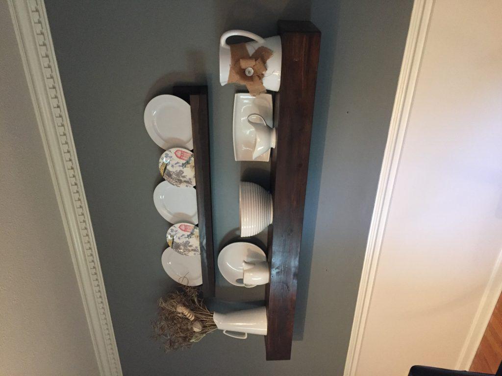 Simple Floating Shelf Dining Room Redo Part 1