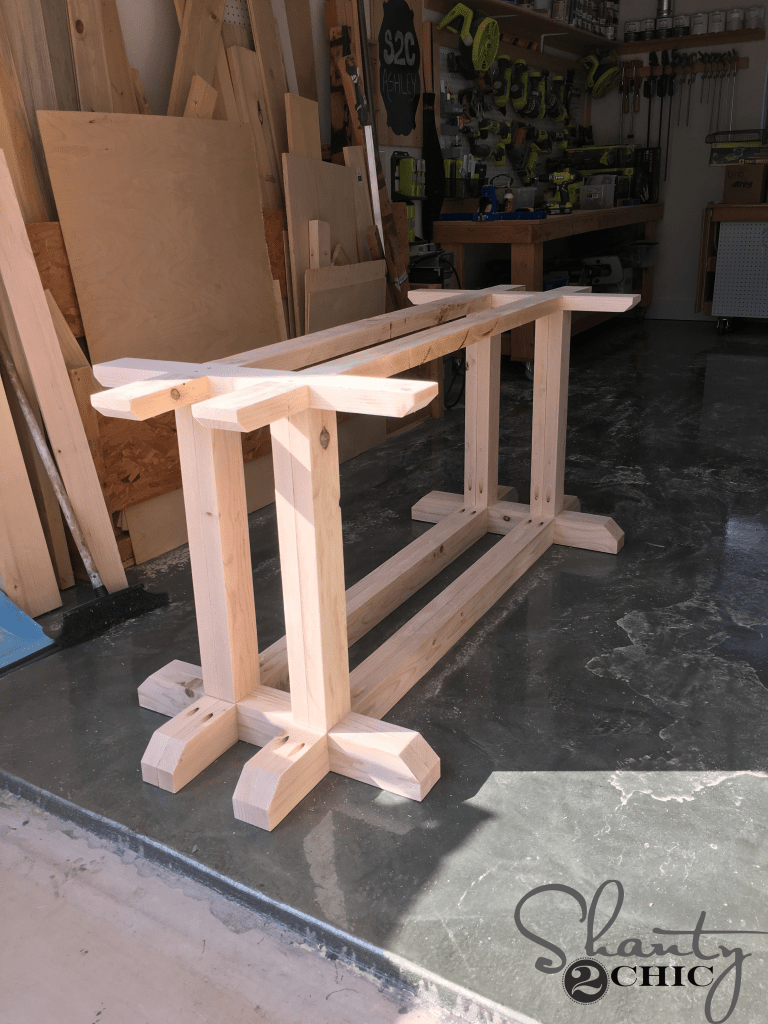 DIY Industrial Corbel Farmhouse Table
