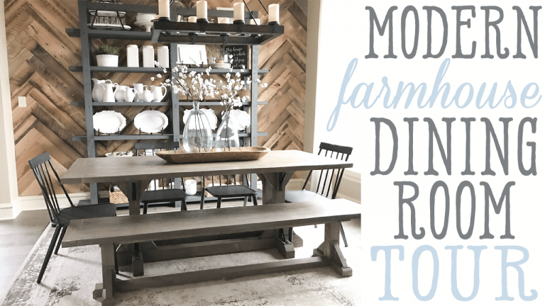 Ashley\'s Modern Farmhouse Dining Room Tour - Shanty 2 Chic