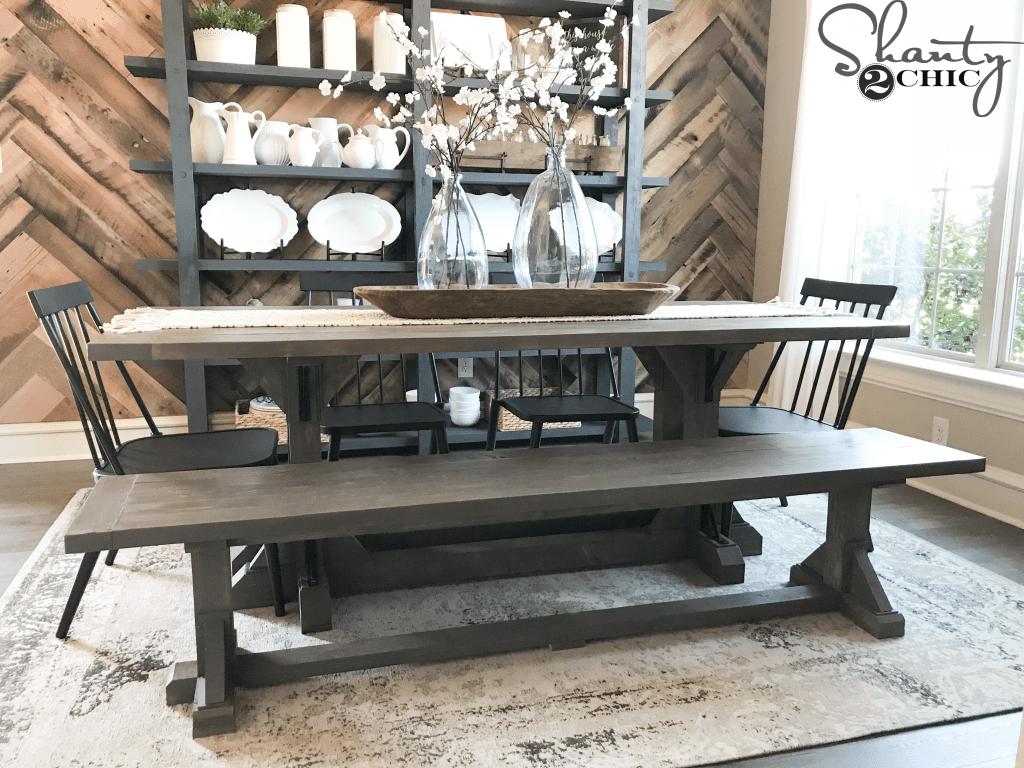 Diy Industrial Corbel Dining Bench Shanty 2 Chic