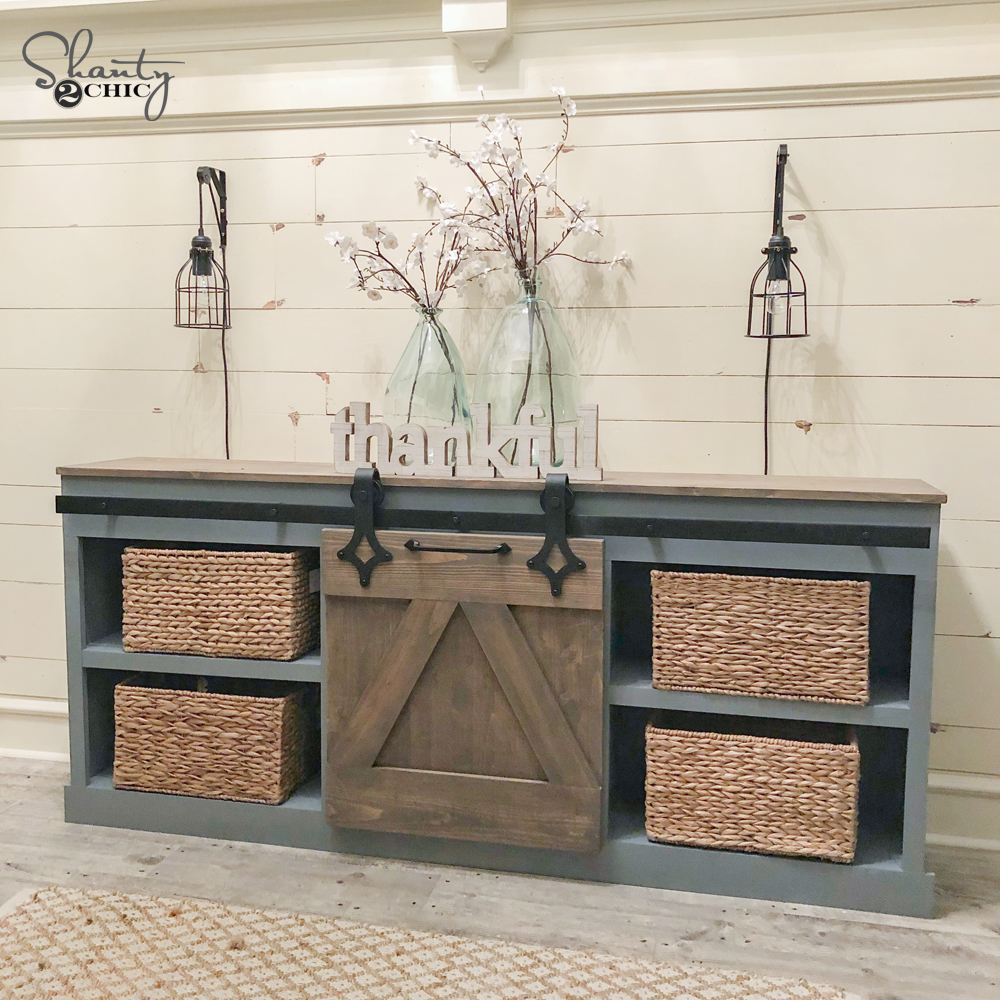 Diy Sliding Barn Door Console Shanty 2 Chic
