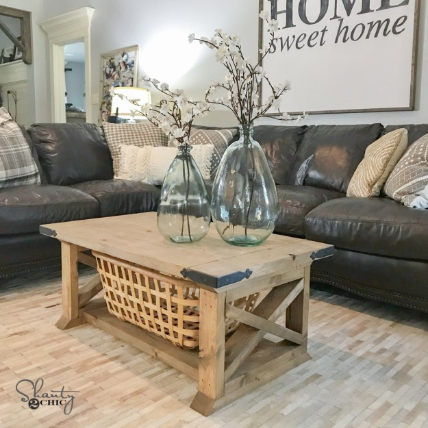diy 8 board farmhouse coffee table - shanty 2 chic