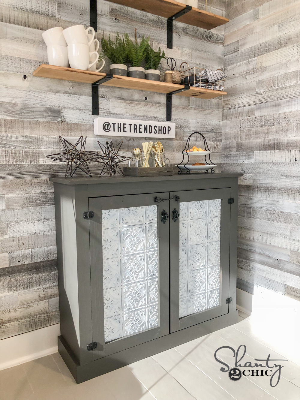 Diy Tin Door Cabinet Easy Diy Tin Door Console Shanty 2 Chic