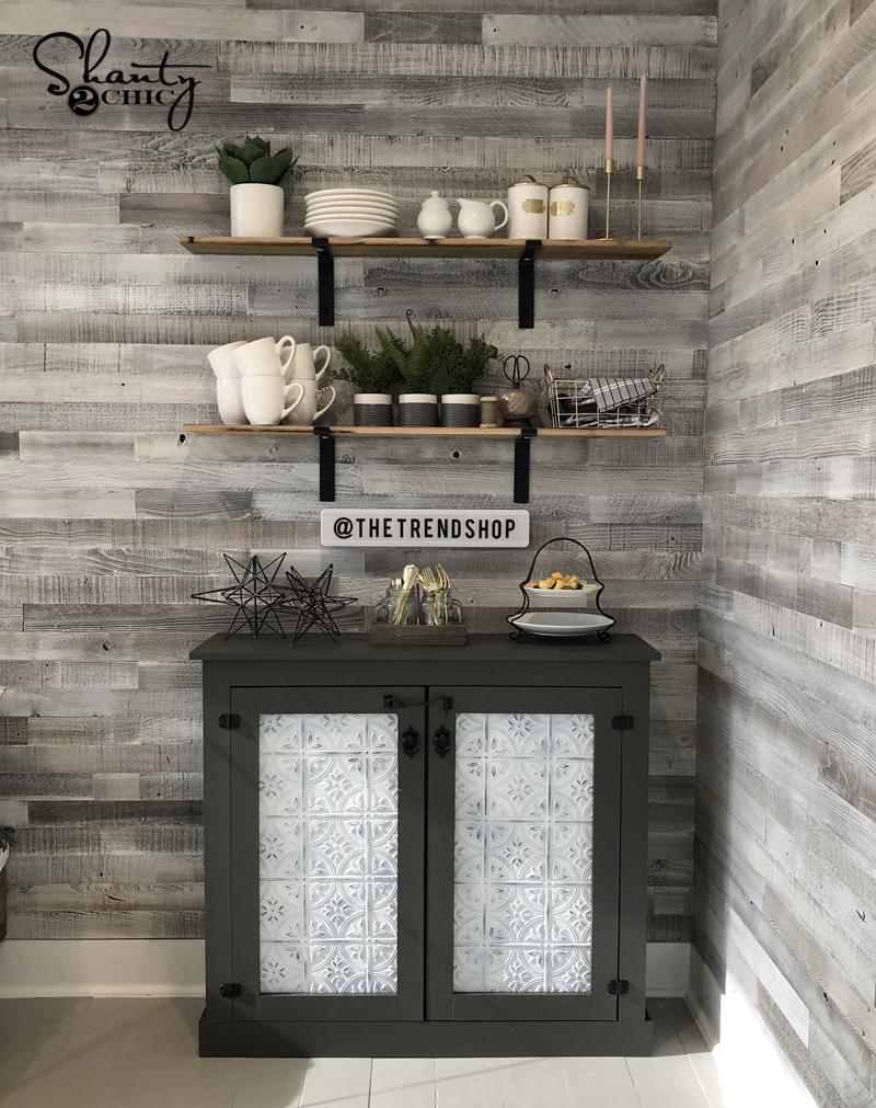 DIY Tin Door Cabinet