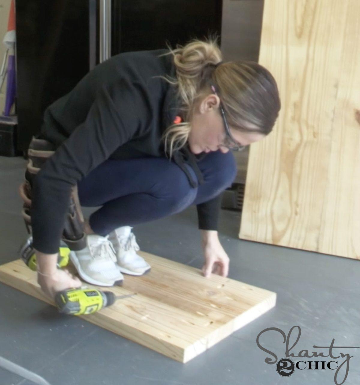 diy pew bench farmhouse table - shanty clamp
