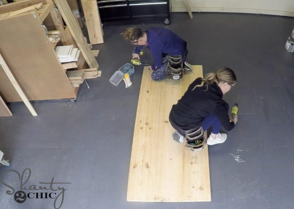 diy pew bench farmhouse table
