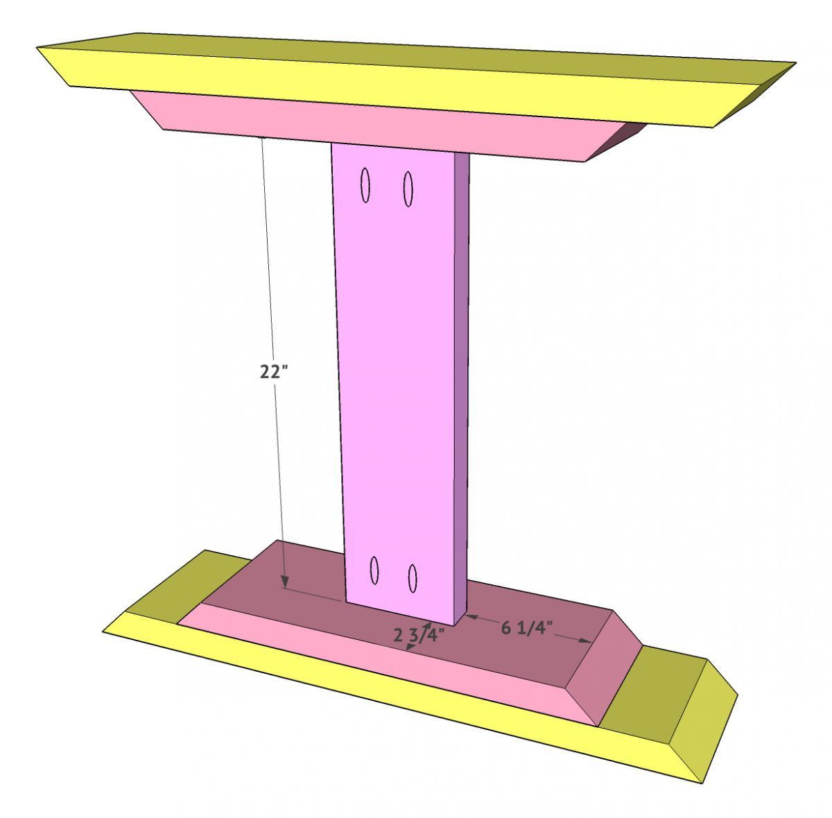 Diy Farmhouse Pedestal Table Free Plans Video Tutorial