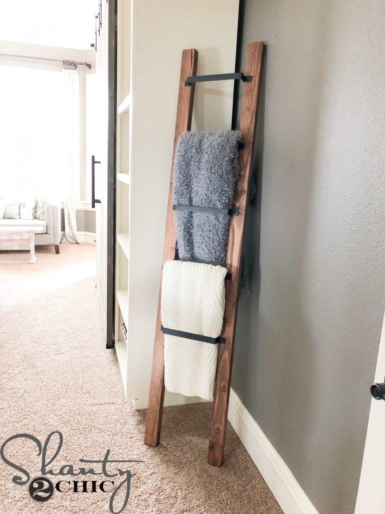 blanket ladder - barn door pull blanket ladder