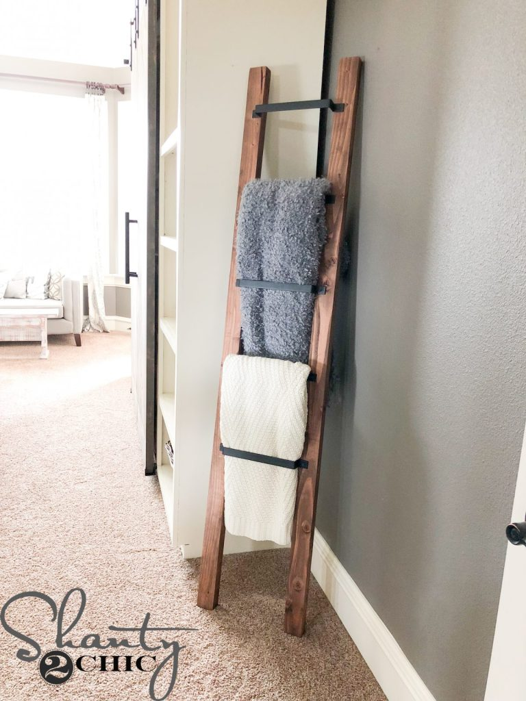 blanket ladder - barn door pull blanket ladder