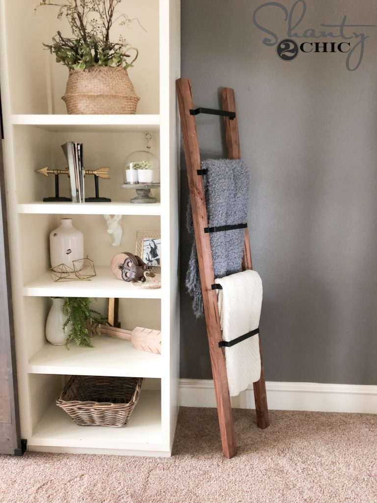 barn door pull blanket ladder