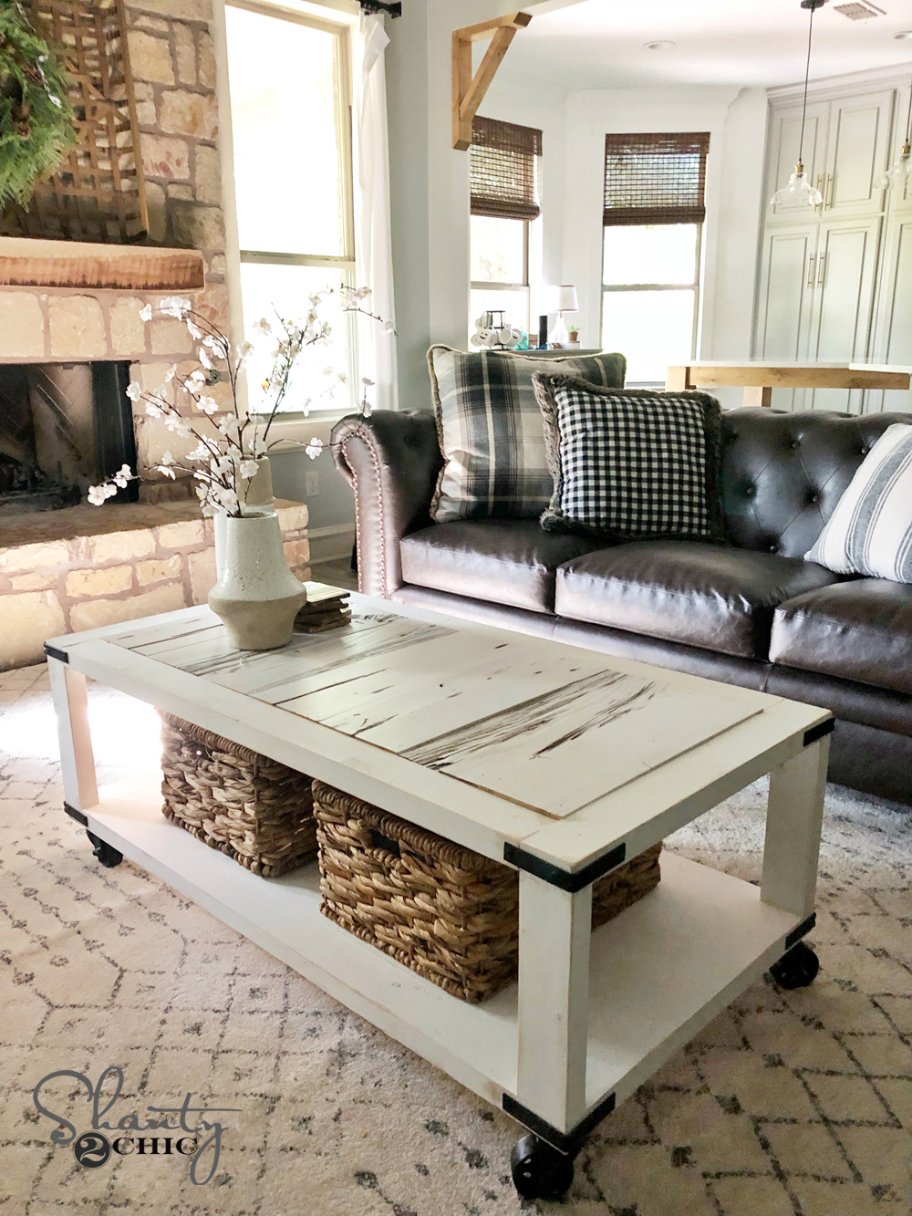 Diy Barn Wood Cart Coffee Table For 50 Free Plans Video Tutorial