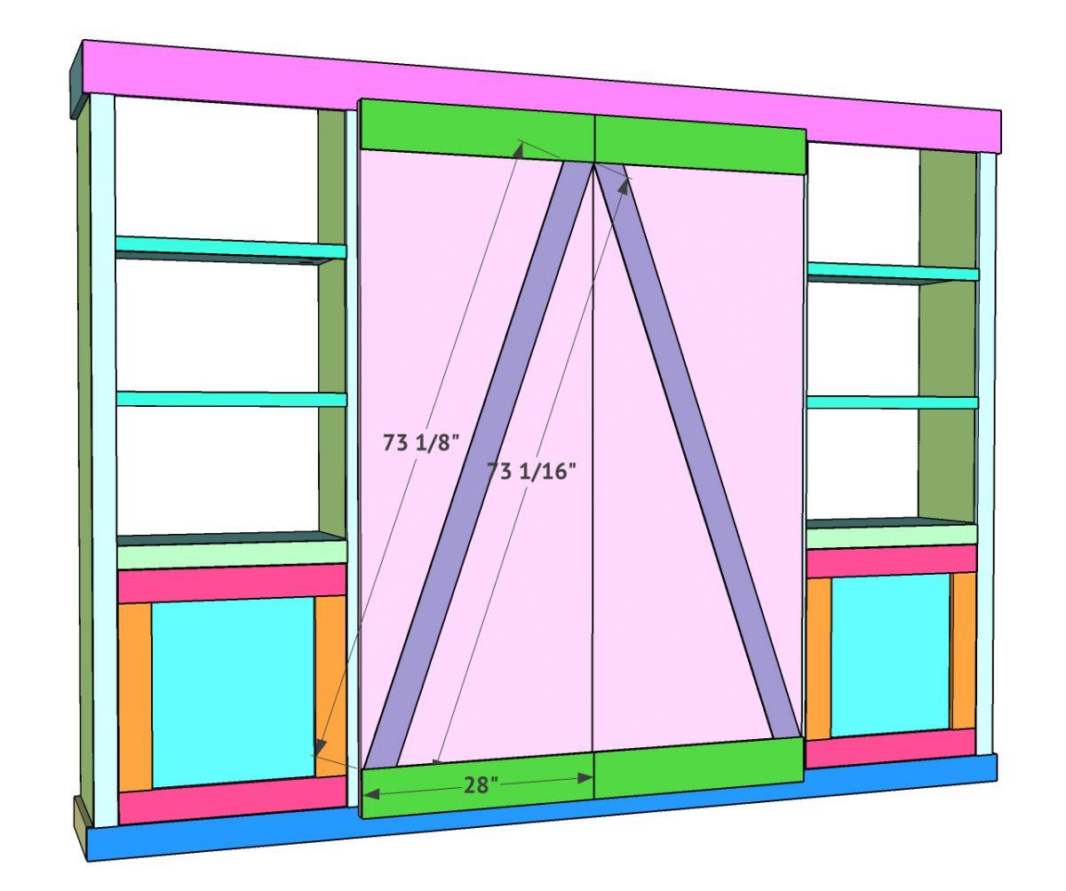 DIY Barn Door Media Cabinet Free Plan - Shanty 2 Chic