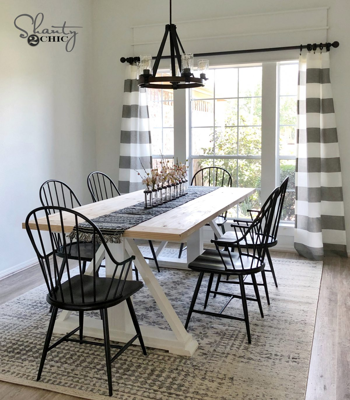 Diy Modern Farmhouse Dining Table The Leasha Table Shanty 2 Chic