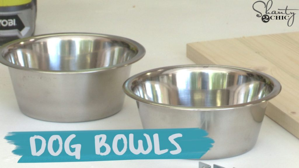 DIY Dog Bowl Stand For Your Puppies - Shanty 2 Chic
