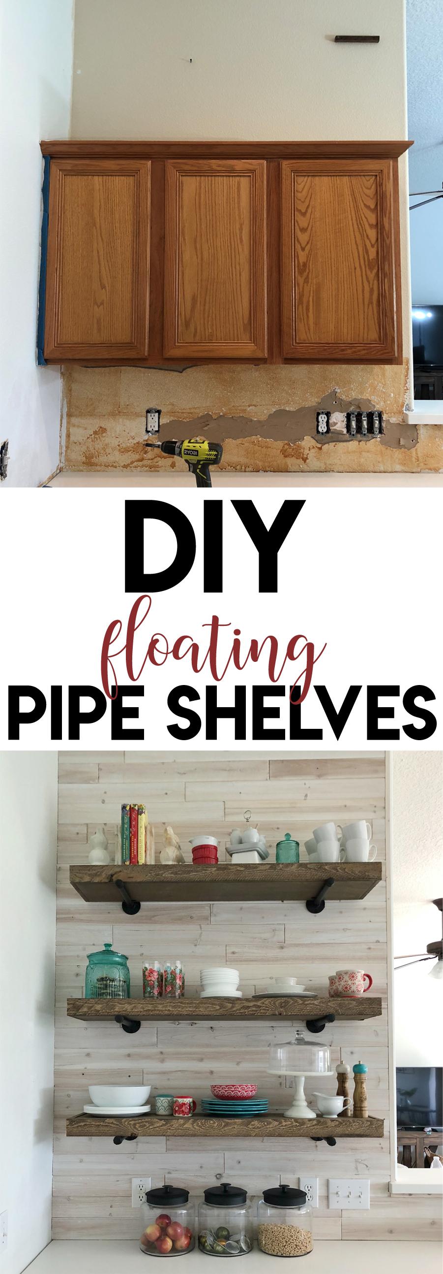 Floating Pipe Shelves