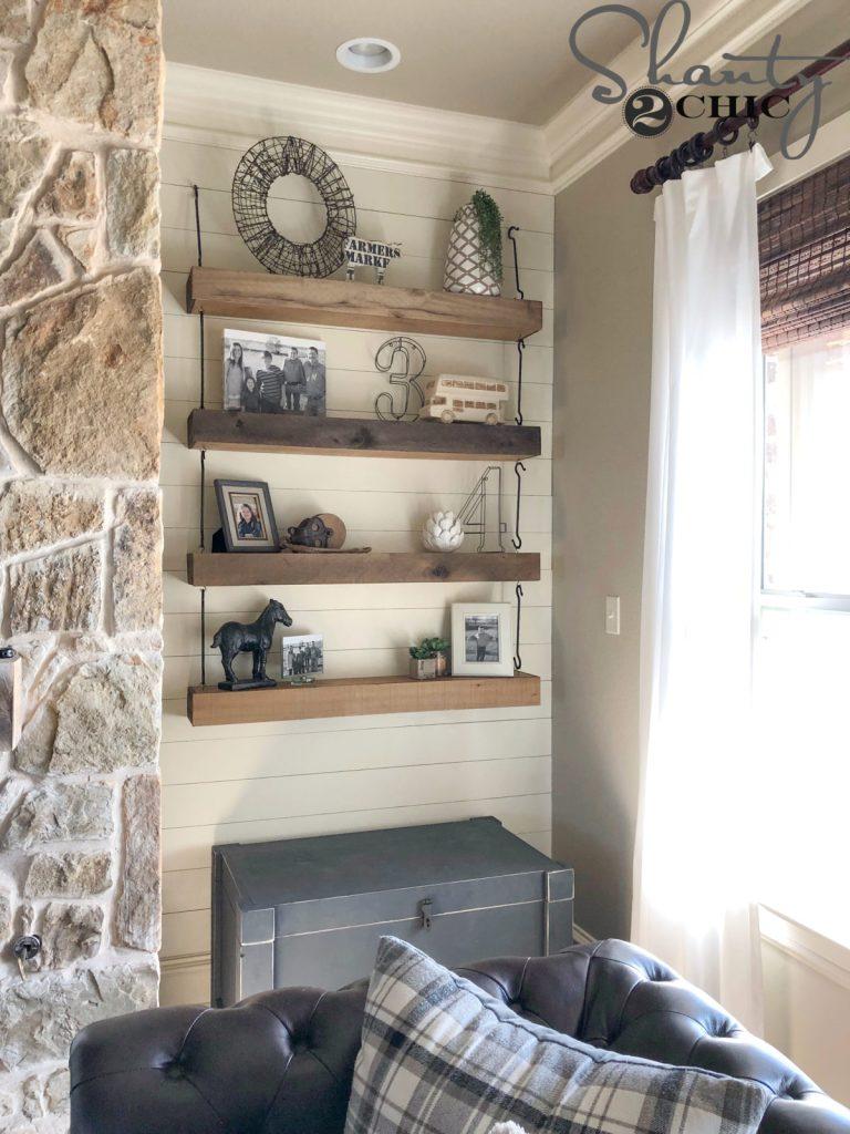 DIY Floating Shelves with Hardware