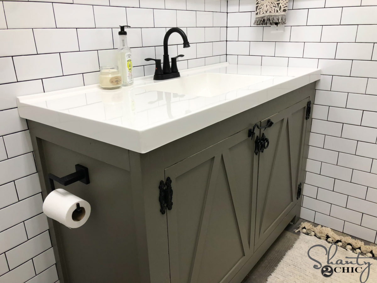 DIY Modern Farmhouse Bathroom Vanity